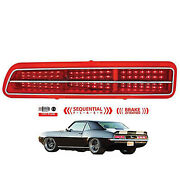 69 Chevy Camaro Red Led Sequential Lh Driver Side Tail Brake Light Lamp Lens