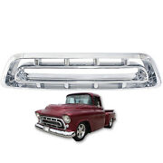 57 Chevy Pickup Truck Chrome Steel Front Grill Grille Assembly Chevrolet 1957