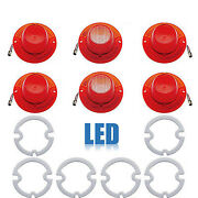 62 Chevy Impala Rear Led Tail And Back Up Light Lenses W/ Gaskets Set Of 6