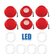 64 Chevy Impala Led Rear Red Tail And White Back Up Light Lens And Gasket Set Of 6