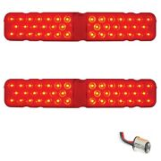 1967 67 Chevrolet Chevy Camaro Rs 40-led Red Tail Turn Signal Light Lenses Pair