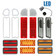 69-70 Chevy And Gmc Truck Led Red Tail Back Up Side Marker Park Light Lenses Set