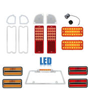 67-68 Chevy Gmc Truck Led Sequential Red Tail License Amber Light Lenses Set Nh