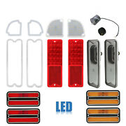 67-72 Chevy And Gmc Truck Led Red Tail And Back Up Light W/ Side Marker Lenses Set