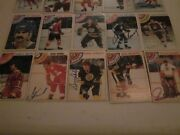 Lot Of 99 Different Autographed Vintage 1970and039s Hockey Cards-no Dupes-stars