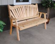 Aandl Furniture Co. Amish-made Cedar Fanback Garden Benches, Available In 3 Sizes