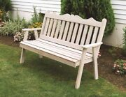 Aandl Furniture Co. Amish-made Cedar Royal English Garden Benches - 3 Size Options
