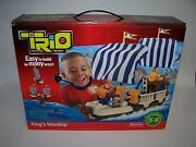 Trio Kingand039s Warship Easy To Build Many Ways Fisher Price Boys And Girls 5+