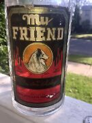 1935 Paper Labeled Whiskey My Friend Lassie Dog Graphic + Emb. Deco Design