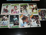 Lot Of 17 Different Autographed Vintage 1970and039s New York Islanders Hockey Cards