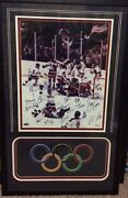 1980 Usa Olympic Hockey Team Signed Framed 16x20 Photo Grandstand Sports