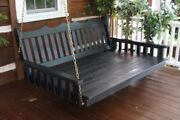Aandl Furniture Amish-made Pine Royal English Swing Beds - In 4 Sizes And 18 Colors