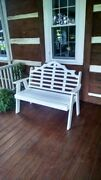 Aandl Furniture Co. Amish-made Poly Marlboro Garden Benches - 2 Sizes And 13 Colors
