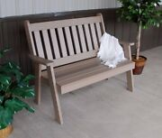 Aandl Furniture Amish-made Poly Traditional English Benches - 2 Sizes And 13 Colors