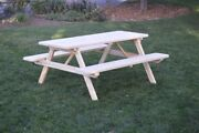 Aandl Furniture Amish-made Pressure-treated Pine Picnic Tables W/ Attached Benches