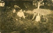 Wwi Era German Soldier Family Posing For The Camera - Ca 1910's Photo Postcard