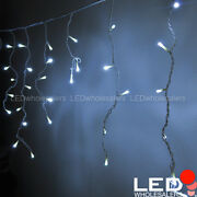 16.4-ft 120-led Linkable Outdoor Christmas Icicle Lights With White Wire, White