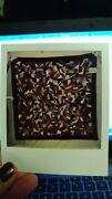 Vintage / Antique Crazy Quilt All Silky Fabric Top Briar Stitching