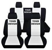 Fits 2014 To 2018 Jeep Wrangler 4 Door, Seat Covers You Can Add Your Design