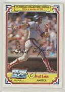 1984 Topps Drakeand039s Big Hitters Fred Lynn 19