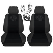 Fits 2009 To 2011 Dodge Ram Charcoal Black Hunting Seat Covers Choose Your Game