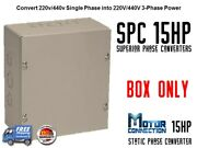 Static Phase Converter - 15 Hp - Create 3 Phase Power From Single Phase Supply