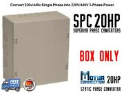 Static Phase Converter - 20 Hp - Create 3 Phase Power From Single Phase Supply