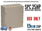 Static Phase Converter - 25 Hp - Create 3 Phase Power From Single Phase Supply