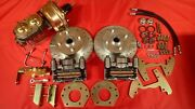 1964 1965 1966 Mustang Power Front Disc Brake Conversion 4 Lug 6 Cylinder New