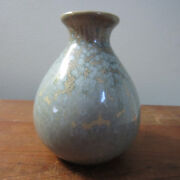Norcal art pottery small vase light blue-green 5 inches