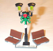 Lego Street Lamp Post And Park Benches 10232 Garden Seat