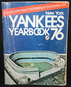 New York Yankees Baseball Yearbook Vg 1976 Signed By Billy Martin And Others