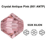 Crystal Antique Pink 001 Antp Genuine 5328 Bicone Beads All Sizes