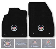 2pc Carpet Front Floor Mats For 1976-2017 Cadillac Cars - Choose Logo And Color