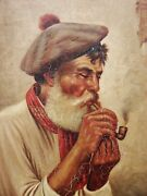 Listed Antique Signed Ernst Nowak Oil Painting 19th Century Austrian