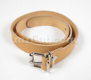 Fiat 500 N/d Long Convertible Top Leather Strap New