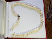 Genuine 9-11mm White South Sea Pearl Necklace 17 Inchs