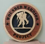 Us Wounded Warrior Project Laser Cut 3d Wood Wall Tribute Plaque 11¼