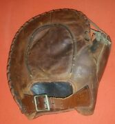 Antique Rare Tom Quinn 1920and039s Western Wilson Leather Baseball Glove