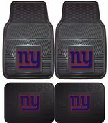 New York Giants Heavy Duty Floor Mats 2 And 4 Pc Sets For Car Trucks And Suvand039s