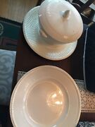 9 Wedgwood China Ivory Edme Queensware 8 1/4 Low Soup Bowls Early Green Marks