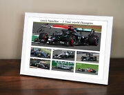 Signed Lewis Hamilton 2020 7 Time F1 World Champion Framed Picture - Xmas Gift