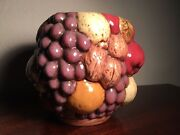Majolica Fruit Planter/Pot Exquisite- Great Ceramic Art - Signed By The Artist