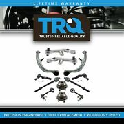 Trq 12 Pc Steering And Suspension Kit Control Arms Wheel Bearings Tie Rods New