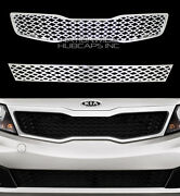 For Kia Optima 2011-13 Chrome Snap On Grille Front Grill Covers Inserts Overlay