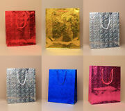 Shiny Paper Carrier Present Gift Bags Christmas Wedding Birthday Wholesale