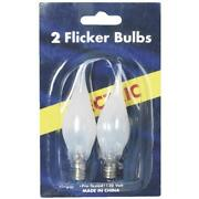 144 Pk Flicker Silicon Tipped Replacement C7 Christmas Tree Light Bulb 2/pk 1422