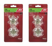 2 Pack Replacement Delta Delex Sink Faucet Knob Knobs Acrylic New
