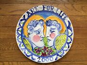 Alfredo Ratinoff signed studio pottery platter listed artist