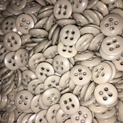 2 Lbs Vintage Buttons Lot Early Plastic Casein Light Grey Size 22l Universal